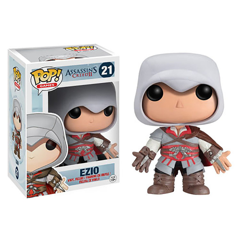 Funko POP Assassin's Creed & EZIO PVC Action Figure Collectible Model toys for chlidren birthday Gift funko pop movies walking dead hershel greene action figure model high quality free freight