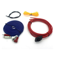 цена на Car Dedicated 5 Meter 8AWG Whole Set Line Audio Modified Subwoofer Amplifier Wire Kits Speaker Wires Power Lines Free Shipping