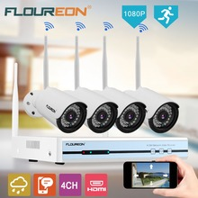 Floureon 4CH 1080P HDMI Wireless CCTV DVR NVR 4 WiFi Wireless 720P Waterproof Bullet Security ip cameras Surveillance System