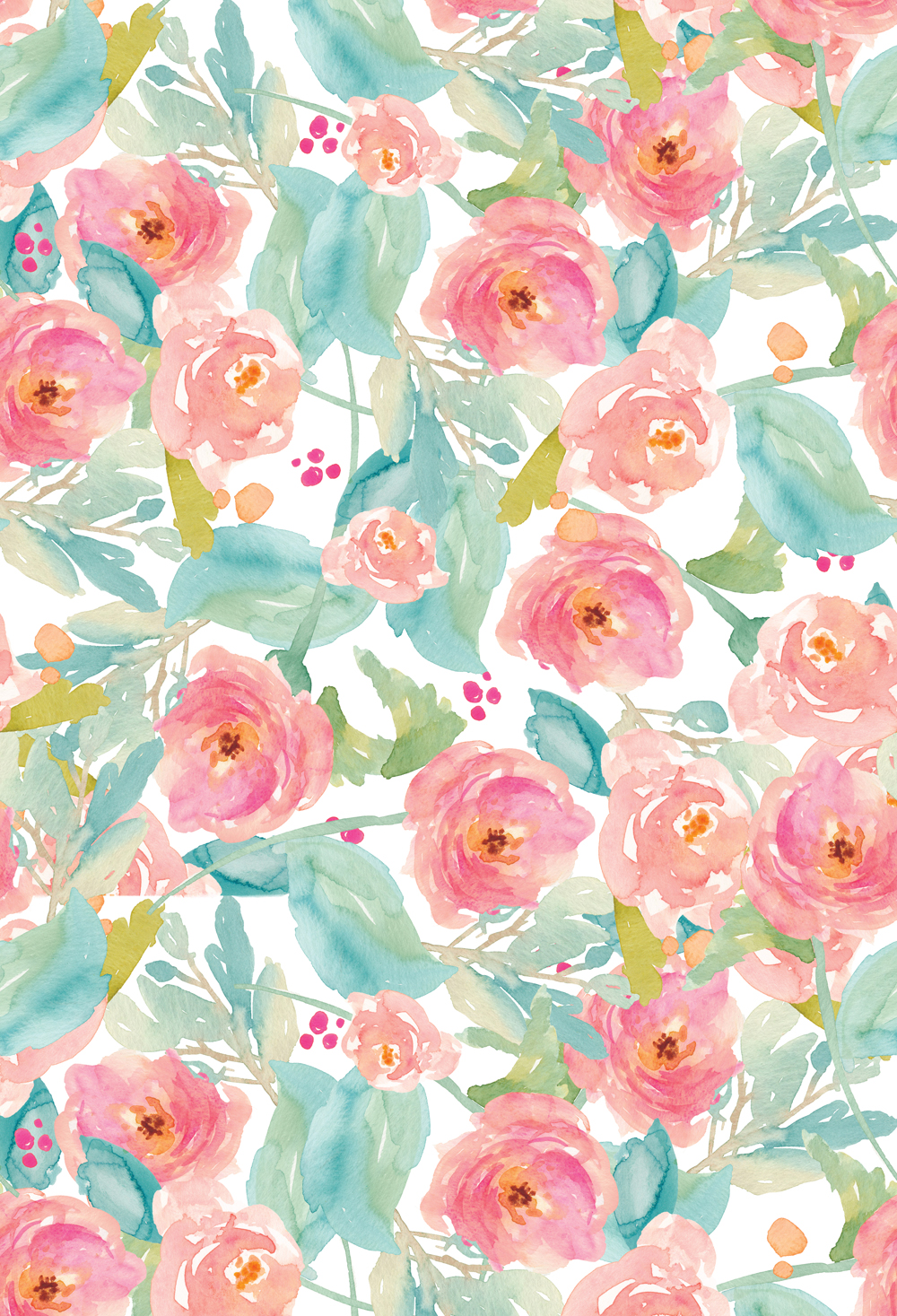 Floral Photography Backdrop vintage watercolor flowers ...