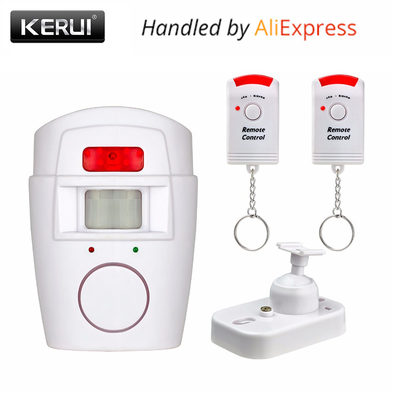 Home Security PIR MP Alert Infrared Sensor Anti-theft Motion Detector Alarm Monitor Wireless Alarm system+2 remote controller smart pir mp alert a9 anti theft monitor detector gsm alarm system for home
