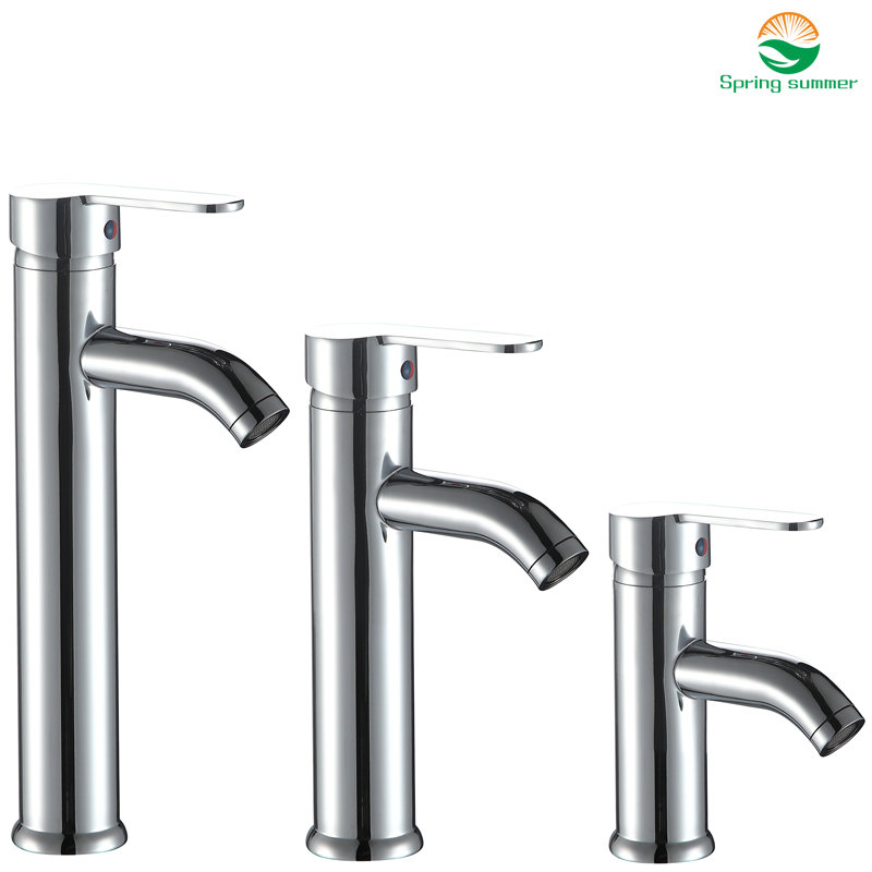 SPRING SUMMER 17/24/30cm Height Brass Material Bathroom Mixer Tap Faucet Hot And Cold Water Chromed Finish DKSR-1100