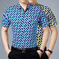New arrival men's pocket design plaid casual short sleeve summer dress shirt