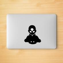 Adesivo vinil para laptop avatar aang, decoração para apple logo macbook retina pro/air