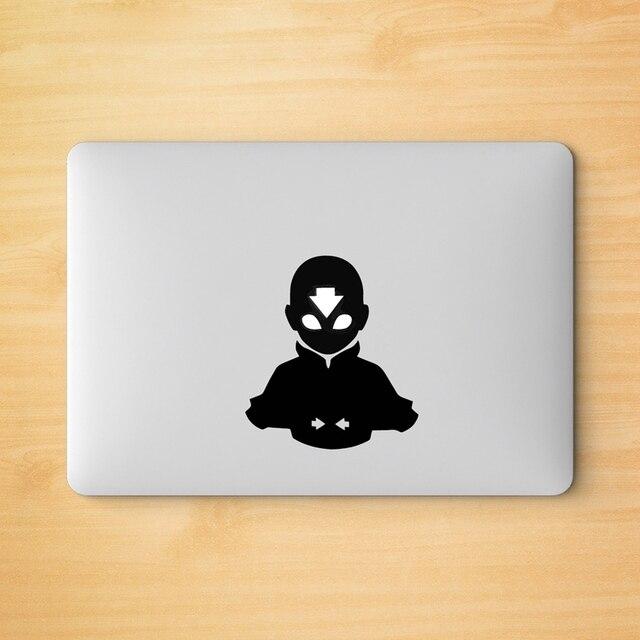 Pegatina de vinilo de Avatar Aang para portátil, logotipo de Apple, MacBook Retina Pro, decoración del aire