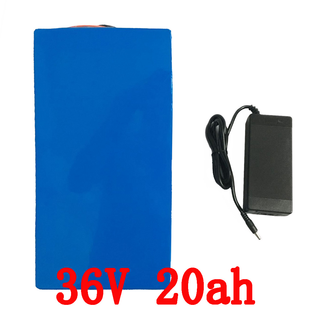 Hot sale 36V Lithium battery 36V 20AH Electric Bike battery 36 V 20ah 1000W Scooter Battery with 30A BMS 42V 2A charger free customs taxes high quality skyy 48 volt li ion battery pack with charger and bms for 48v 15ah lithium battery pack