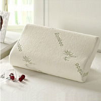 Queen Hotel Comfort Contour Orthopedic Bamboo Fiber Sleeping Memory Foam Pillows