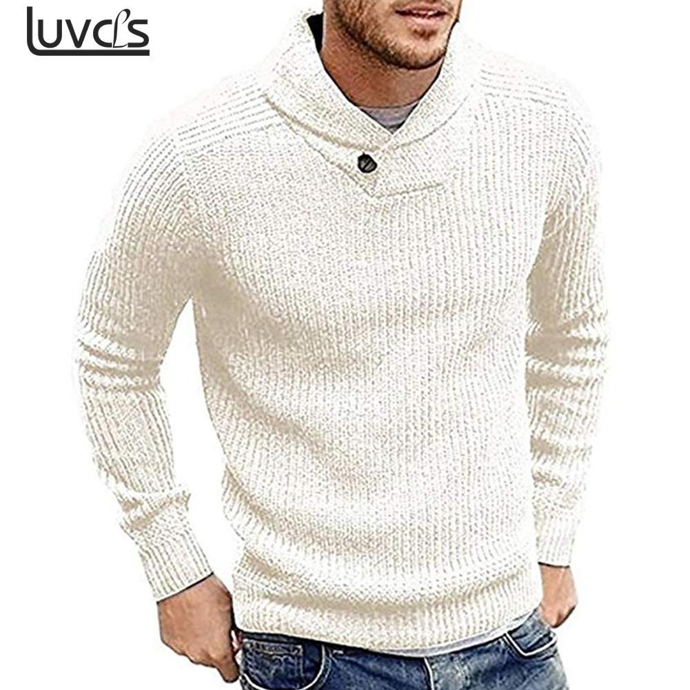 Symbol Der Marke Herren Schal Kragen Slim Fit Gestrickte Pullover Pullover Langarm Casual Pullover Strickwaren Winter Kaschmir Outer Für Männer