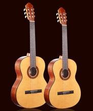 36 39 дюймовая гитара, классический акустический испанский Гитара s с ель Топ/красное дерево тело, Классическая гитара с нейлоновая нить