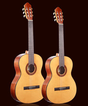 36 39 inch guitar ,Acoustic Classical Spanish guitars With Spruce Top/Mahogany Body,classical guitar with Nylon string(China)