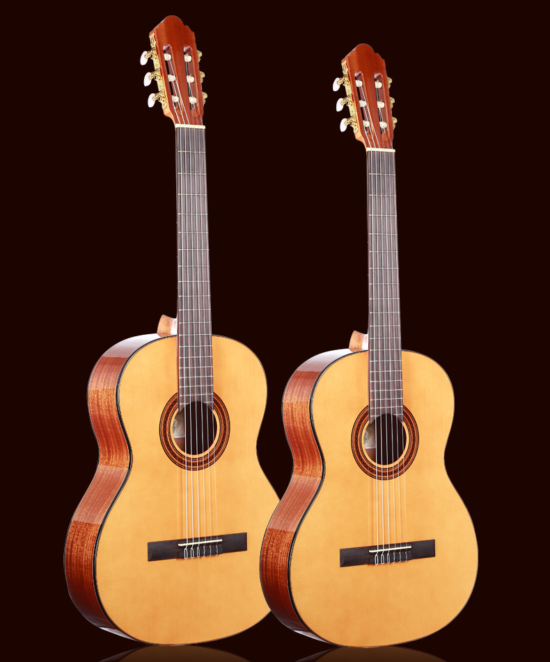 36 39 inch guitar ,Acoustic Classical Spanish guitars With Spruce Top/Mahogany Body,classical guitar with Nylon string
