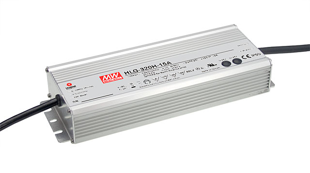 [PowerNex] MEAN WELL original HLG-320H-12 12V 22A meanwell HLG-320H 12V 264W Single Output Switching Power Supply genuine mean well hlg 320h 36b 36v 8 9a hlg 320h 36v 320 4w single output led driver power supply b type