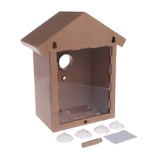 10*14*21.8 cm ABS,PS,PVC preservative outdoor birds nest wood bird decoration house wooden cage toy