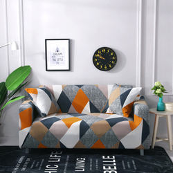Geometry Plaid Home Sofa Cover Stretch Soft Home Furniture Elasticity Slipcover All-inclusive 1/2/3/4 Seater Couch Cover