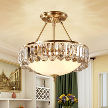 LED crystal pendant lights Nordic Copper bedroom suspension luminaire dining living room fixtures hotel lobby hanging lamp