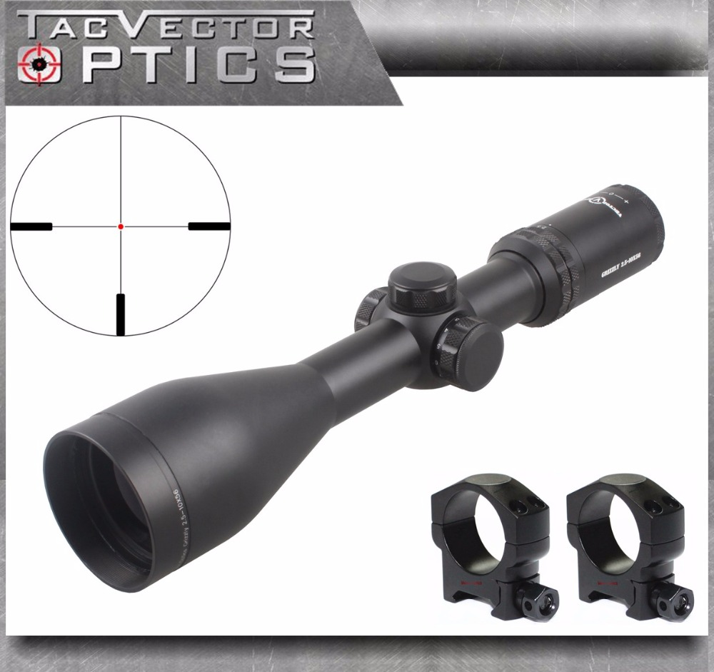 Vector Optics Grizzly 2.5-10x56 E Hunting Rifle Scope with 30mm Mount Ring and Illuminated Dot Reticle 2018 New Arrival fite for honda cbr 600rr cbr600rr 2003 2004 2005 2006 motorcycle adjustable folding extendable brake release lever logo repsol