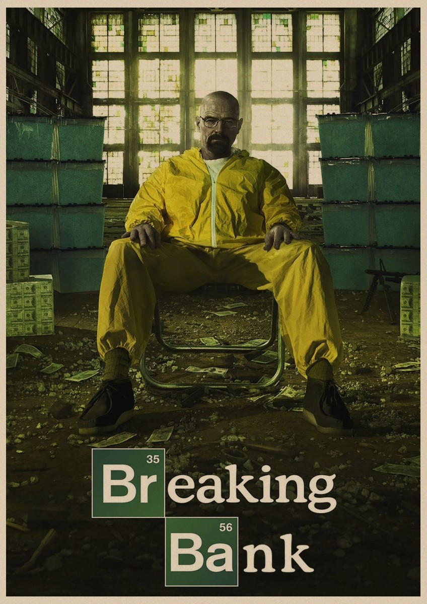 Image 4 - Breaking Bad movie retro Poster Vintage Kraft Paper Retro Posters Wall Sticker Bar Cafe Decoration Home Decor Gift A4-in Wall Stickers from Home & Garden