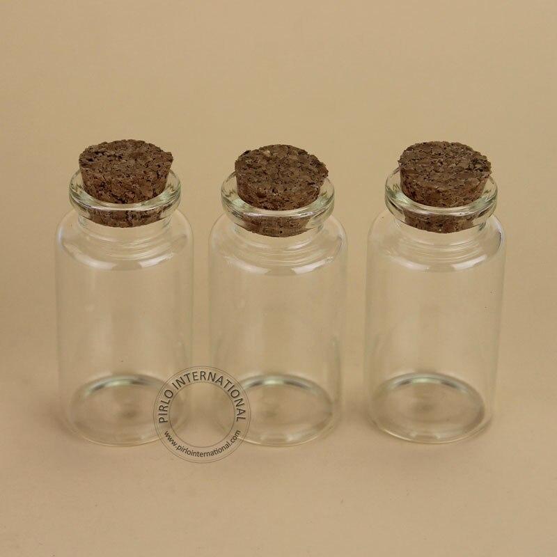 100 sztuk/partia hurtownie 25 ml szklany korek butelka pusta fiolka na próbki do dekoracji domu, które chcą pudełko pojemnik wielokrotnego napełniania mały garnek w Butelki wielokrotnego użytku od Uroda i zdrowie na  Grupa 1