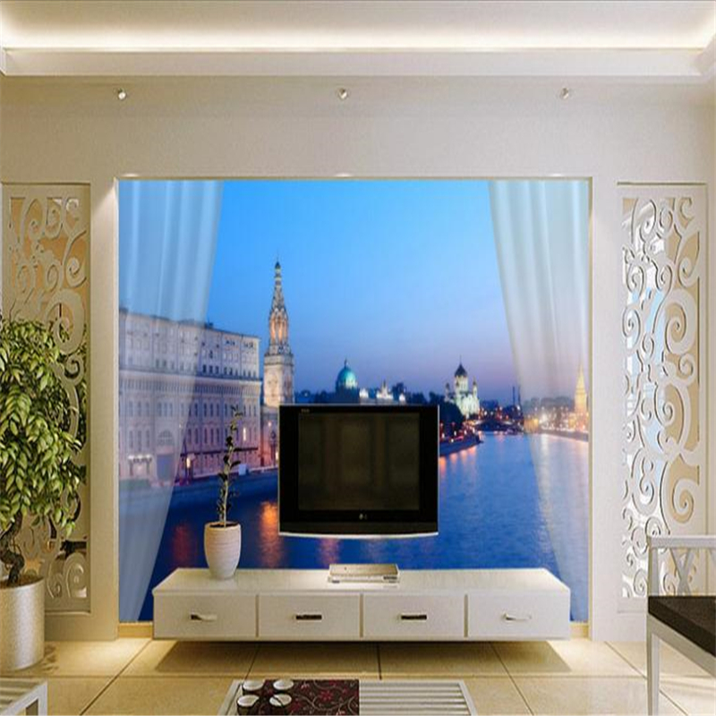 3D Large Custom Photo Wallpapers Natural Landscape Scenery Walls Murals for Living Room TV Backdrop Home Decor Night City Murals shinehome sunflower bloom retro wallpaper for 3d rooms walls wallpapers for 3 d living room home wall paper murals mural roll