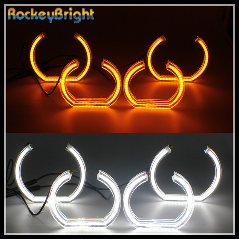 Rockeybright crystal Angel Eyes white yellow turning signal Angel Eyes for BMW F30 F35 Warning Lamp for BMW X3 led halo rings free shipping 1 set 2x 120mm 2x 128 mm f30 f35 crystal led angel eyes for bmw