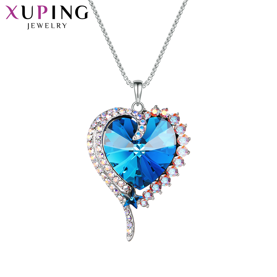 11.11 Deals Xuping Jewelry Romantic Pendant Colorful Crystals from Swarovski Elegant Necklace for Women Valentines Day 40149