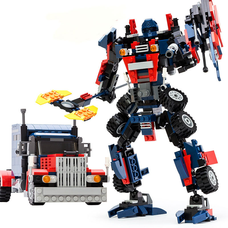 GUDI 377 pcs Transformers Series Transformer Robot Model Building Blocks Sets DIY Bricks Toys For Children Compatible With Lepin transformers маска bumblebee c1331