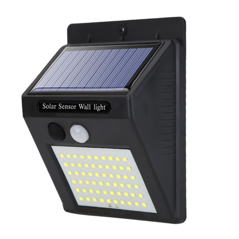 60/70LED Solar Wall Lamp PIR Motion Sensor Outdoor Waterproof Garden Light Courtyard Floodlight For Home Out Door Lighting Lamps