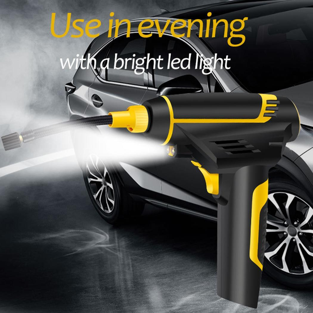 Digital LED Smart Car Air Pump DC 12V 120W Portable Handheld Tire Electric Inflating Pump 3 meters