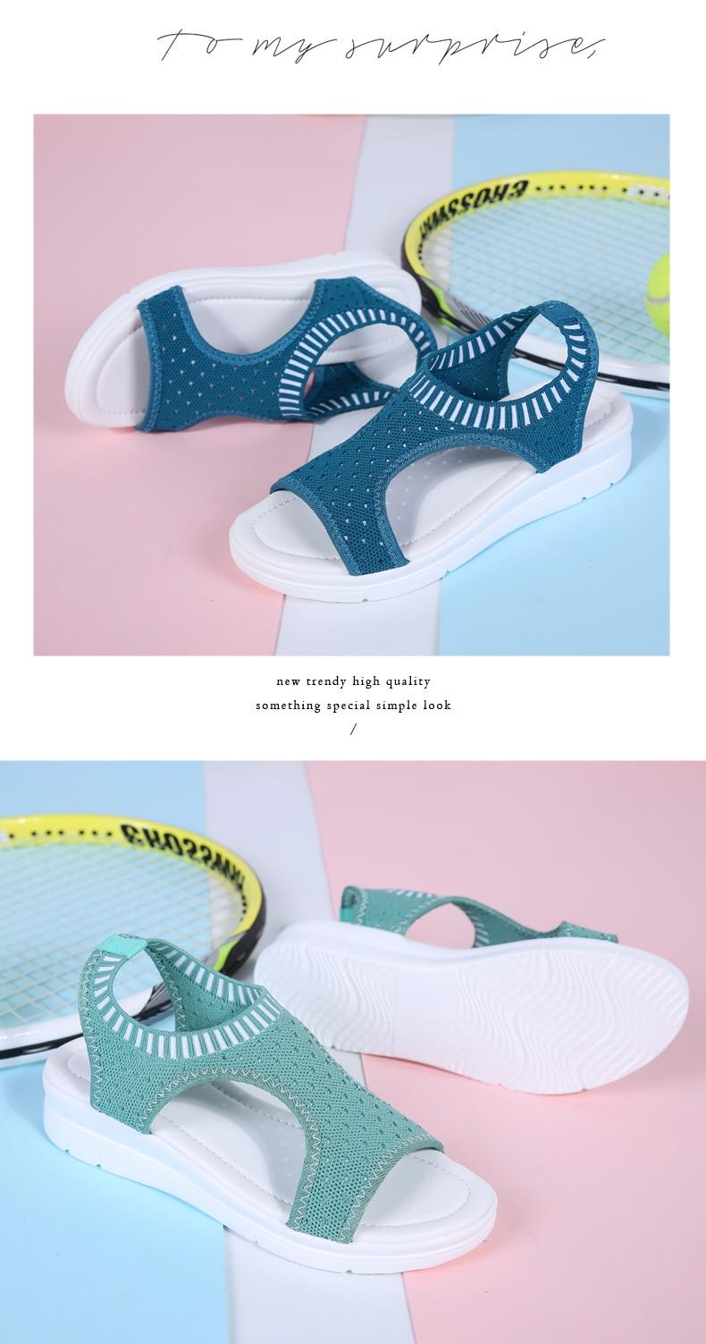 HTB1TmKERrPpK1RjSZFFq6y5PpXap ZUNYU New 9 colors Woman Flat Summer Shoes Fashion Women's Sandals Wedge Comfortable Sandals Ladies Sexy Sandals Plus Size 35-45