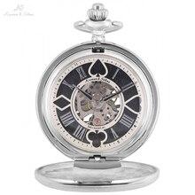 KS WATCH Skeleton Mechanical Pocket Watch Hand Winding