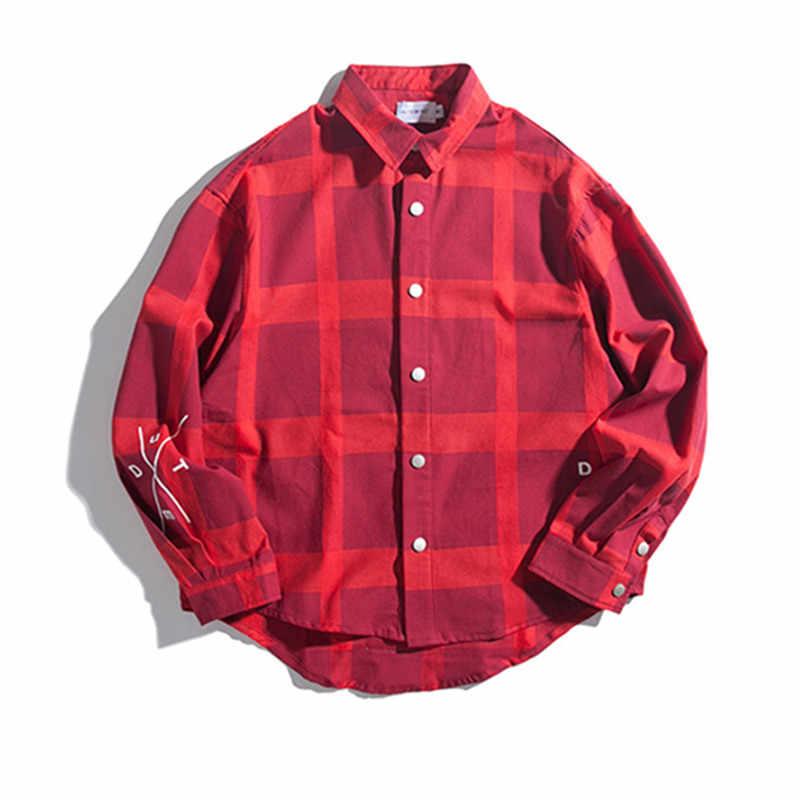 ฤดูใบไม้ร่วงใหม่เสื้อลายสก๊อตผู้หญิงเสื้อและเสื้อแฟชั่นพิมพ์เสื้อแขนยาวเสื้อ Streetwear เสื้อลำลองหญิง Plus ขนาด