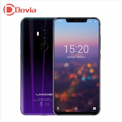 UMIDIGI Z2 Smartphone 4050 mah 6.2 Android 8.1 MTK6763 Octa Core 2.0 ghz 6 gb + 64 gb 16.0MP + 8.0MP Double Retour Caméras 4g Mobile Téléphone