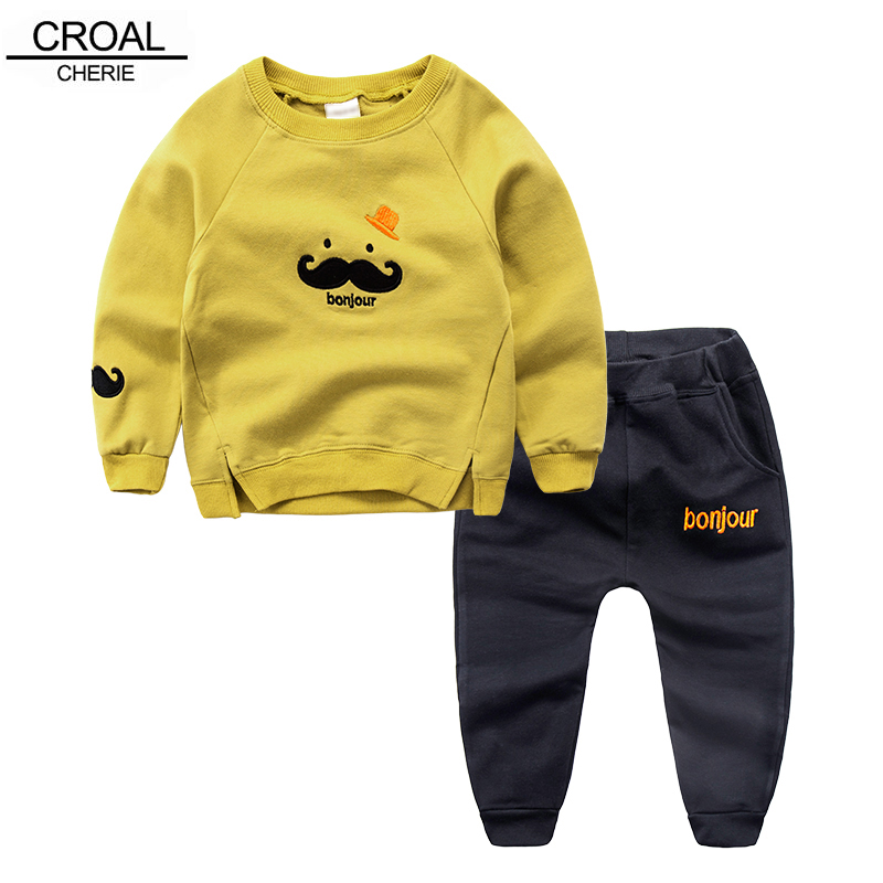 80 120cm Fashion Sping Autumn Kids Tracksuit T Shirt And
