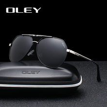 OLEY Men's Sunglasses Brand Designer Pilot Polarized Male Sun Glasses Eyeglasses gafas oculos de sol masculino For Men Y7700 цена