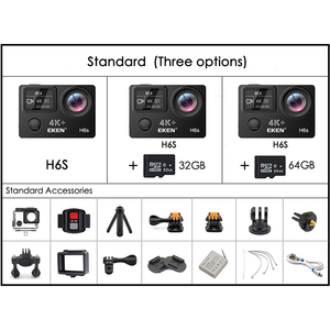 Image 5 - ต้นฉบับ EKEN H6S 4K + Ultra HD 14MP พร้อม EIS REMOTE กล้องวิดีโอ Ambarella A12 ชิป WIFI 30 M กันน้ำ Action กล้อง