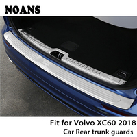 NOANS For Volvo XC60 2018 Auto Car Rear Trunk Door Bumper Anti Scratch Strips Stainless Steel Accessories