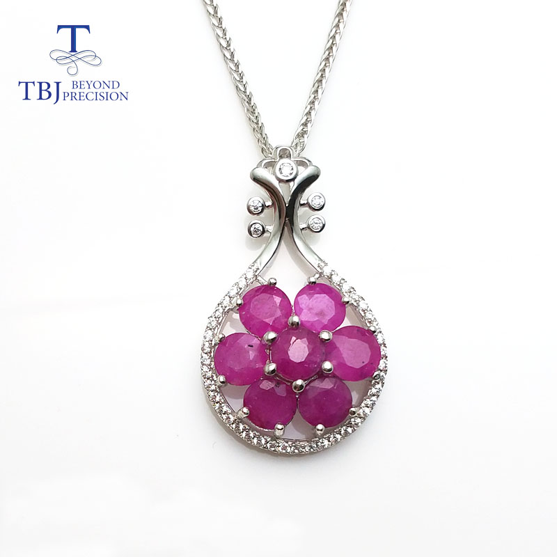 TBJ, S925 silver pendant with natural ruby,musical instruments design pendant,best gift for women girls lady , party daily wear wwd women s wear daily 2012 11 26