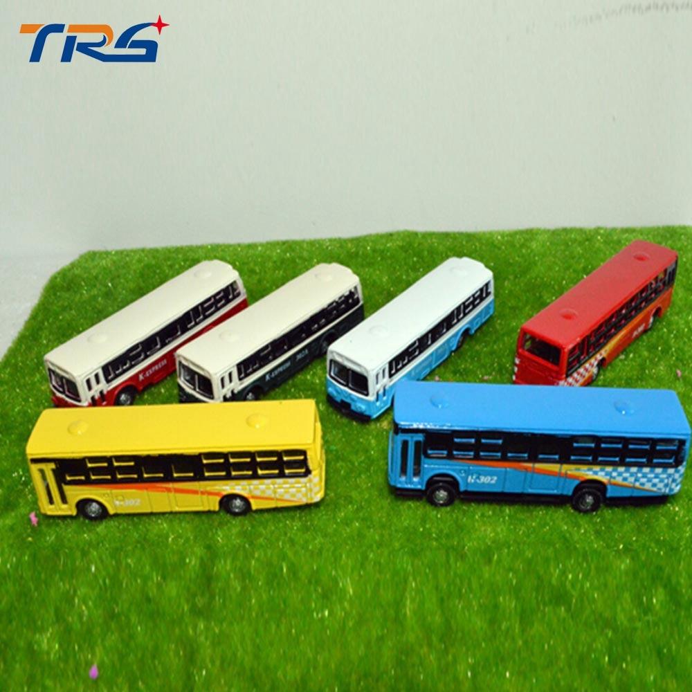 12pcs Model Cars Buses 1:150 HO TT Scale Railway Layout Diecast model bus