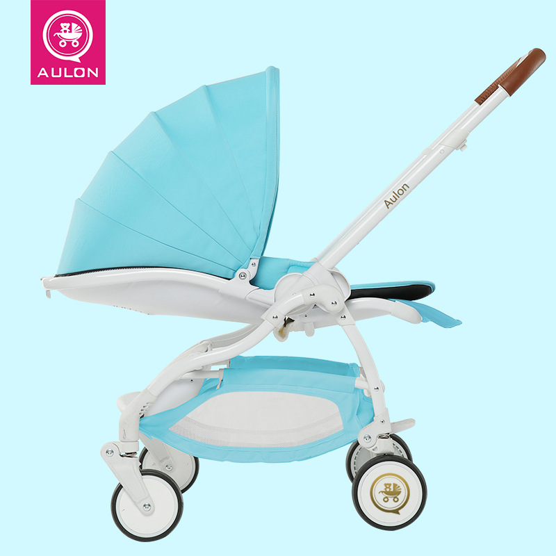 Light Baby Stroller, Four-wheel Suspension, Fast-folding, Sit & Lie Down, Aluminum Alloy, Two-Direction, Pram, Pushchair. high landscape suspension stroller four wheel two way light folding sit lie baby cart