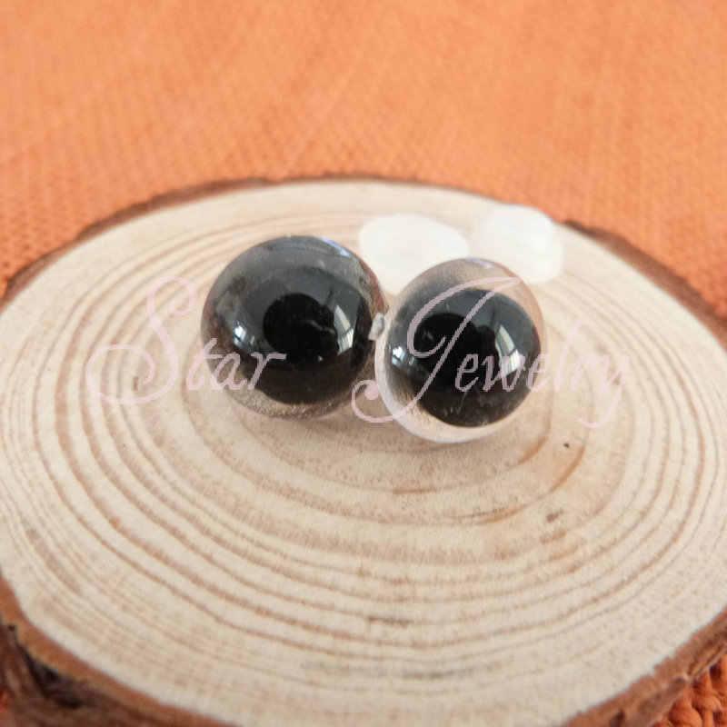 Мини заказ 50 шт 24 мм круглые прозрачные игрушечные глаза пластиковые с шайбами для аксессуаров куклы/(не 50 пар)/# nhv