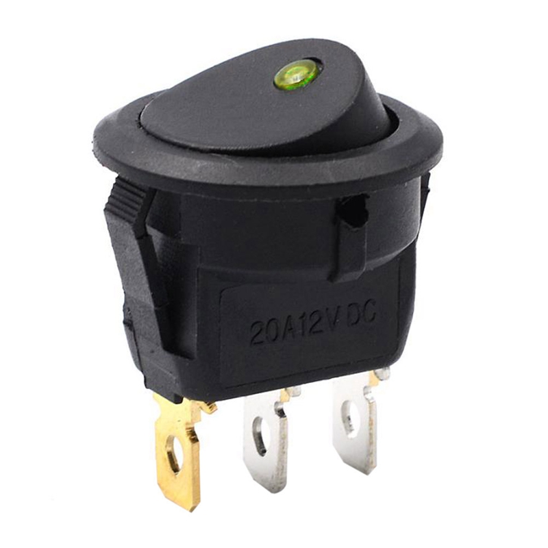 Car Auto 12V 3 Pins Car Auto Cover LED Toggle Rocker Switch Control ...