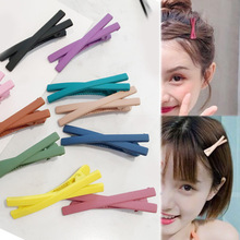 Hot 2018 1PC Scrub color cross kids bangs clip girls hair for women side accessories