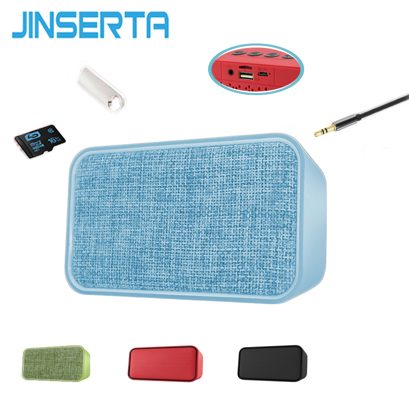 JINSERTA Mini portable Bluetooth Wireless Speaker FM Radio Stereo Super Bass Subwoofer Support TF-Card AUX Input for iPhone