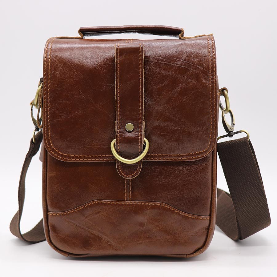 Brand New Genuine Leather Casual Travel Bag Men's Messenger Shoulder Bags Handbag Tablet PC Packs Cell Phone Case Cover