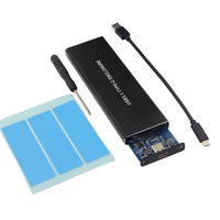 10Gbps USB 3.1 Gen2 to M.2 NVME NGFF PCIe SSD Enclosure NVME M Key to Type C Solid State Drive Adapter Case Support 2230 to 2280