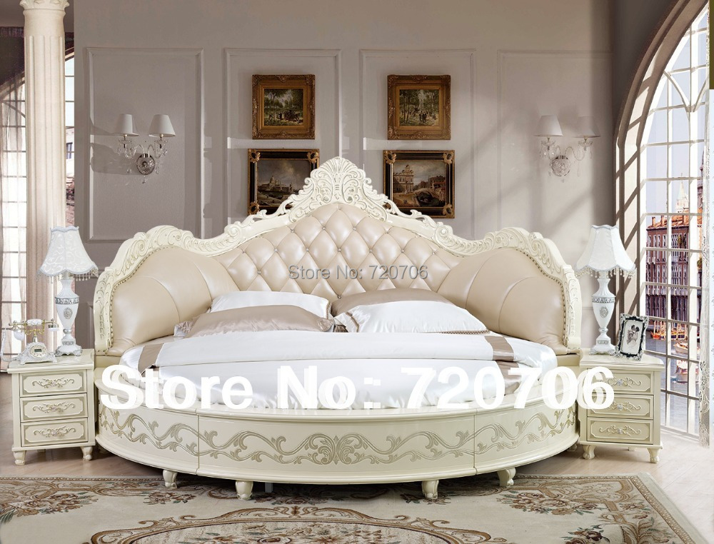 Charmant 2014 New Design Round Luxury Leather Bed Sofa Bed Soft Bed Mini  Order$2500(mixed Items) In Living Room Sofas From Furniture On  Aliexpress.com | Alibaba ...