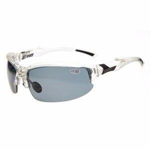 Image 3 - TH6188 бифокальный окуляр TR90 небьющиеся спортивные солнцезащитные очки бифокальные Солнцезащитные очки полуоправы очки для чтения