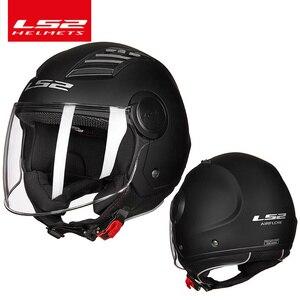 Image 5 - LS2 casco de moto con flujo de aire para verano, Moto jet de media cara, capacete, LS2 OF562