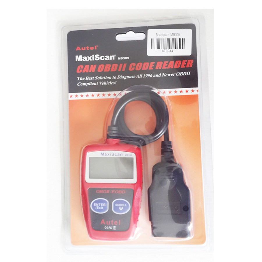 Autel MaxiScan MS309 auto code reader maxiscan ms309 with free ship and high quality