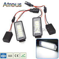 2x Error Free LED License Plate Light 12V Number Plate Lamp With Decoder For VW Golf